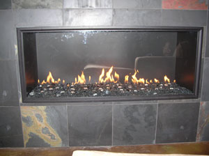 how to clean dust under a gas fireplace